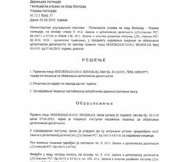 Detective agency Seguridad license 2019-1
