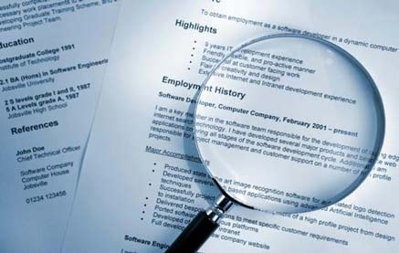 Checking resume data-CV Seguridad Belgrade